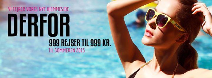 DUF Rejser - ny hjemmeside - 999 rejse på tilbud til 999 kr.