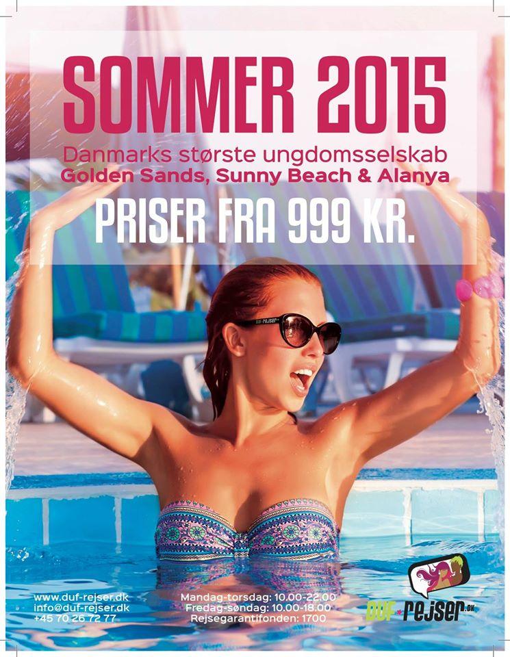 DUF-Rejser - 999 kr. tilbud, sommersæson 2015