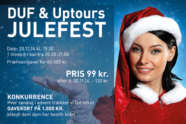 DUF & Uptours Ungdomsferie Julefest